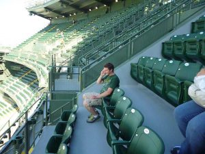 Me at Lambeau Field during an annual shareholders meeting