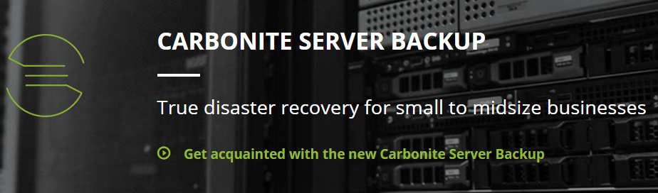 Carbonite Business Server Backup and Recovery