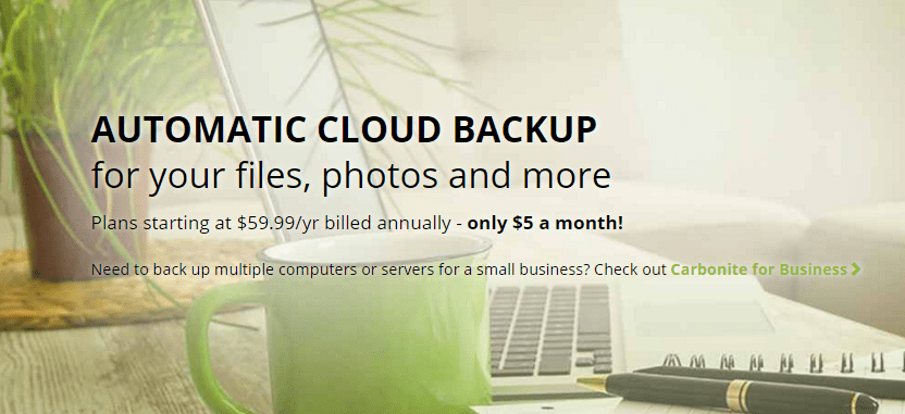 Carbonite Personal Plans for Automated Cloud Backup