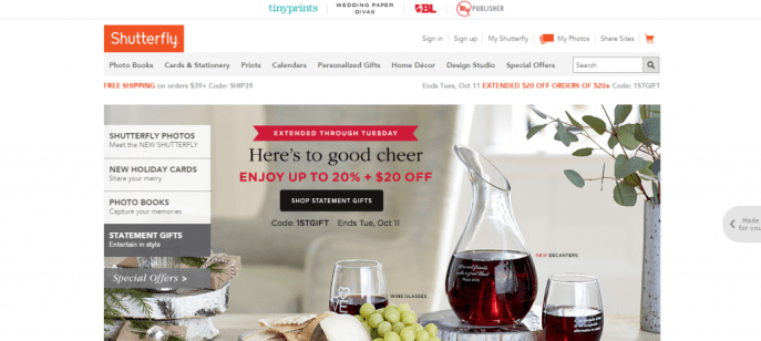 Make money selling your images or brand on products using Shutterfly
