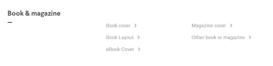 99Designs book and magazine design