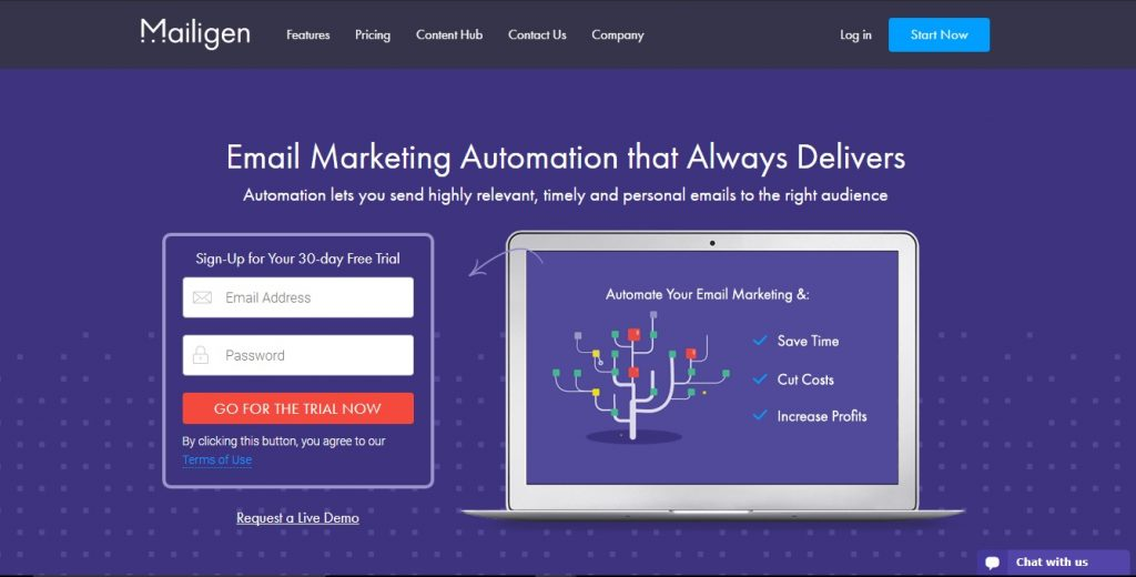 Mailigen email marketing automation software is a service marketers can begin using for free.