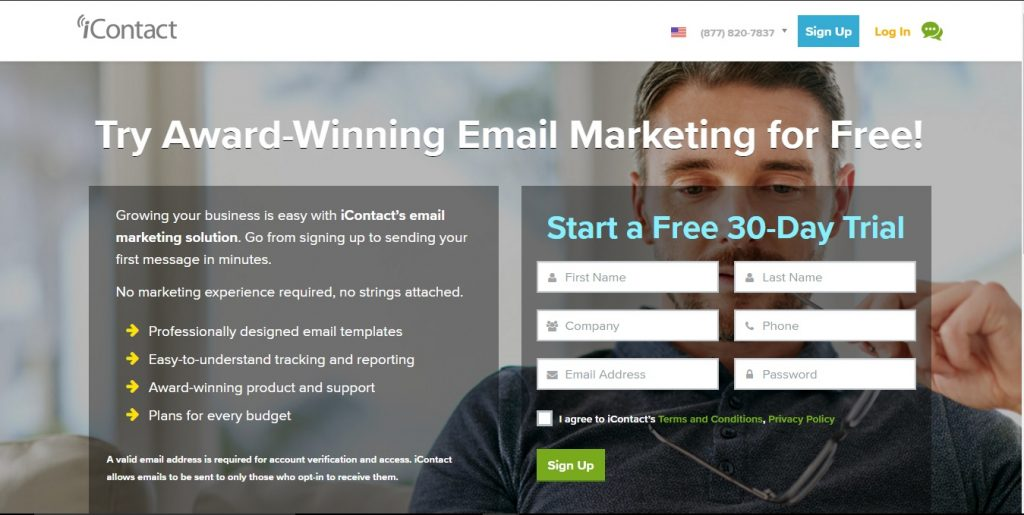 iContact email marketing software is a service and marketing tool that you can start using for free.