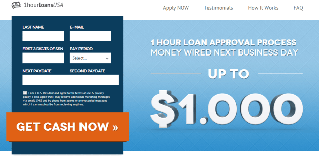 payday landing page