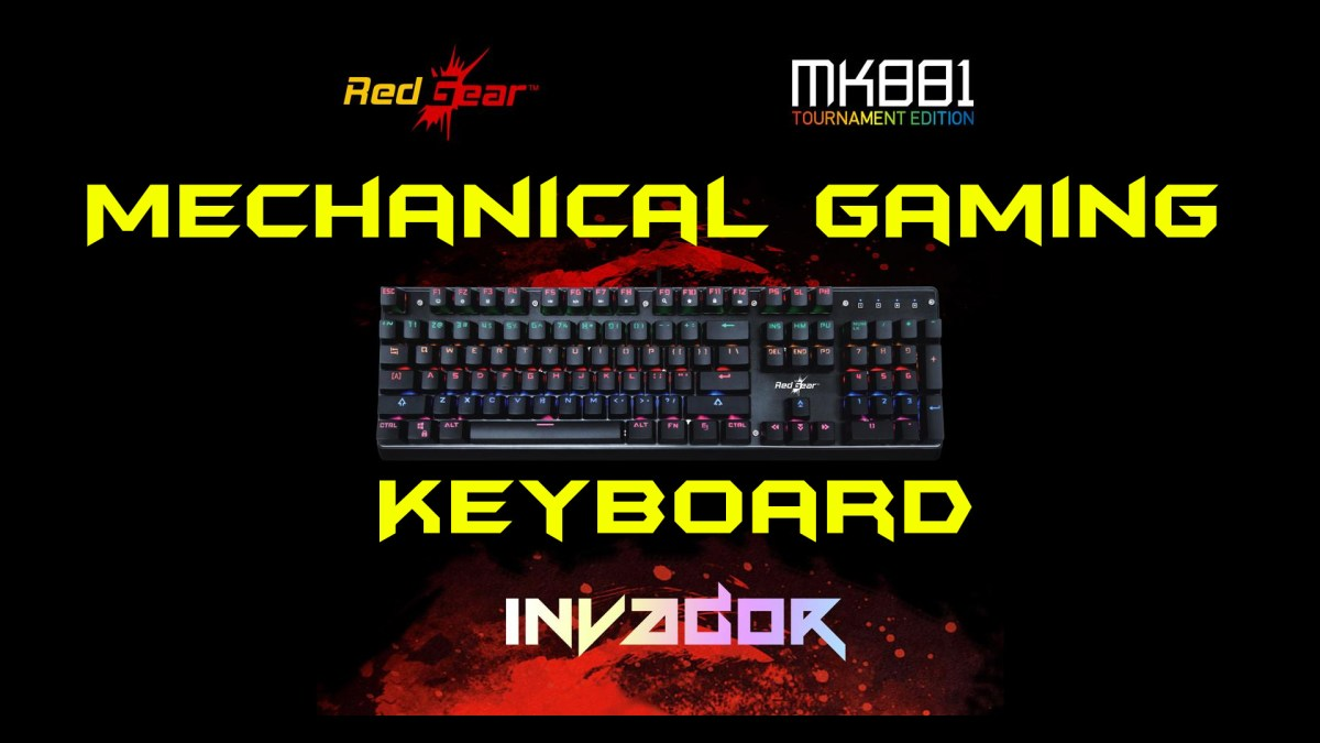 RedGear Invador MK881 LED Mechanical Gaming Keyboard