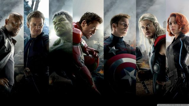 Side-by-side picture of the six Avengers