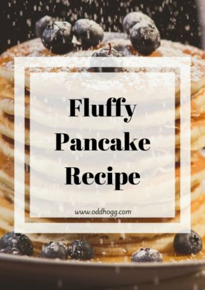 Pancake Recipe | This is our family recipe for American style pancakes - or drop scones as we used to call them. Big and fluffy, these scotch pancakes make a delicious breakfast with bacon and syrup. A delicious weekend treat! http://oddhogg.com