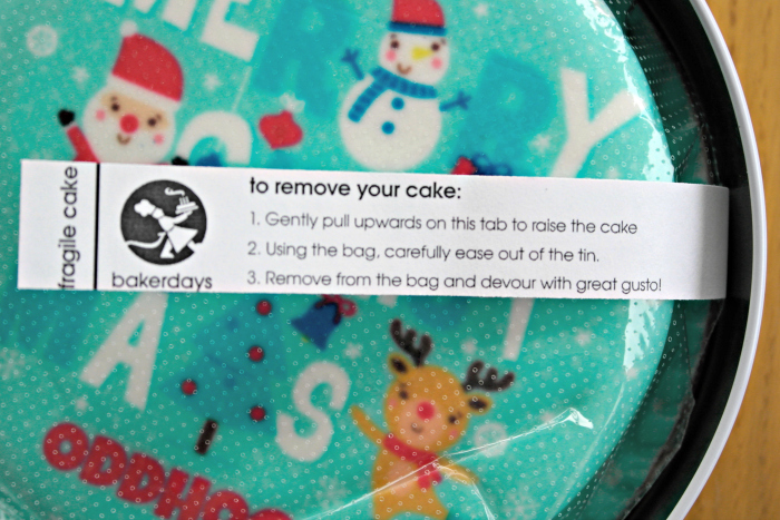 bakerdays Letterbox Cake Review   Label