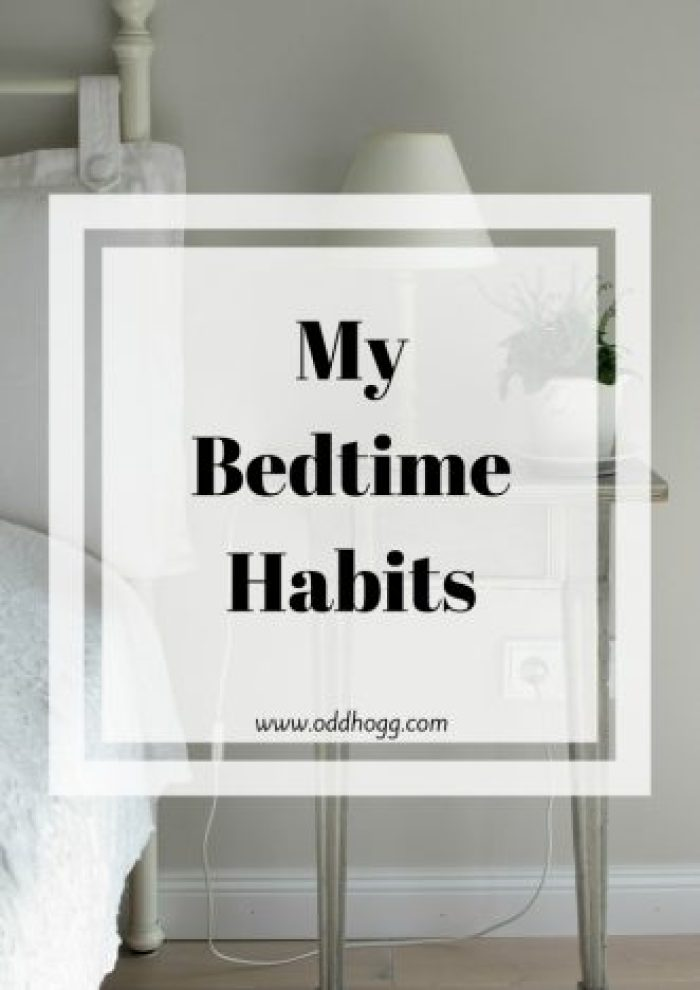 The Bedtime Tag | Interested in what my bedtime routine is? Check out this tag where I answer all sorts of questions about my habits http://oddhogg.com