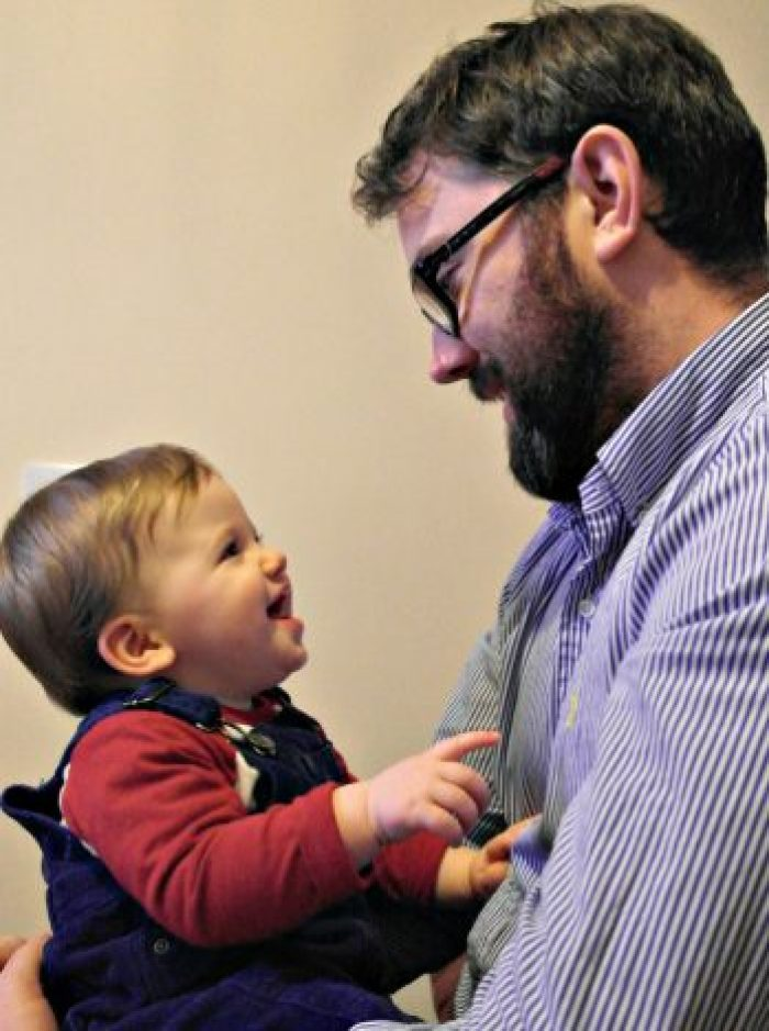 To Piglet, On Your 1st Birthday   With Daddy http://oddhogg.com