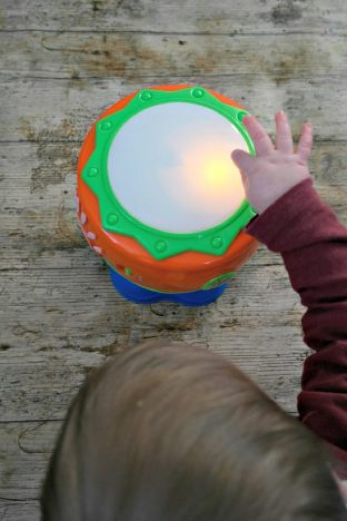1st Birthday Gift Guide | Little Tikes Spin n Hit Drum being hit by Piglet http://oddhogg.com