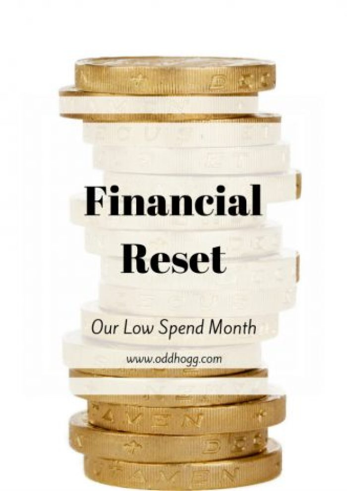 Financial Reset | We are taking a month to cut right back on our spending. Reassess what we need to spend our money on and where we can save some money http://oddhogg.com
