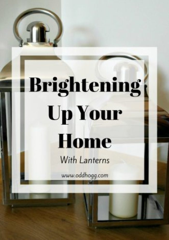Lanterns | We are brightening up our home using some large glass lanterns http://oddhogg.com