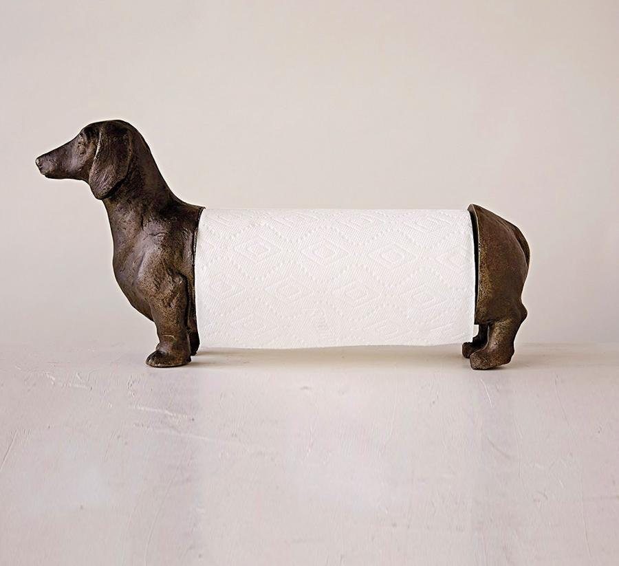 This Paper Towel Dispenser Is Shaped Just Like A Wiener Dog