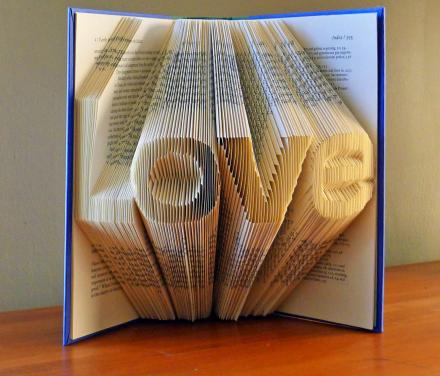 Folded Book Art Turns Book Pages Into 3D Letters