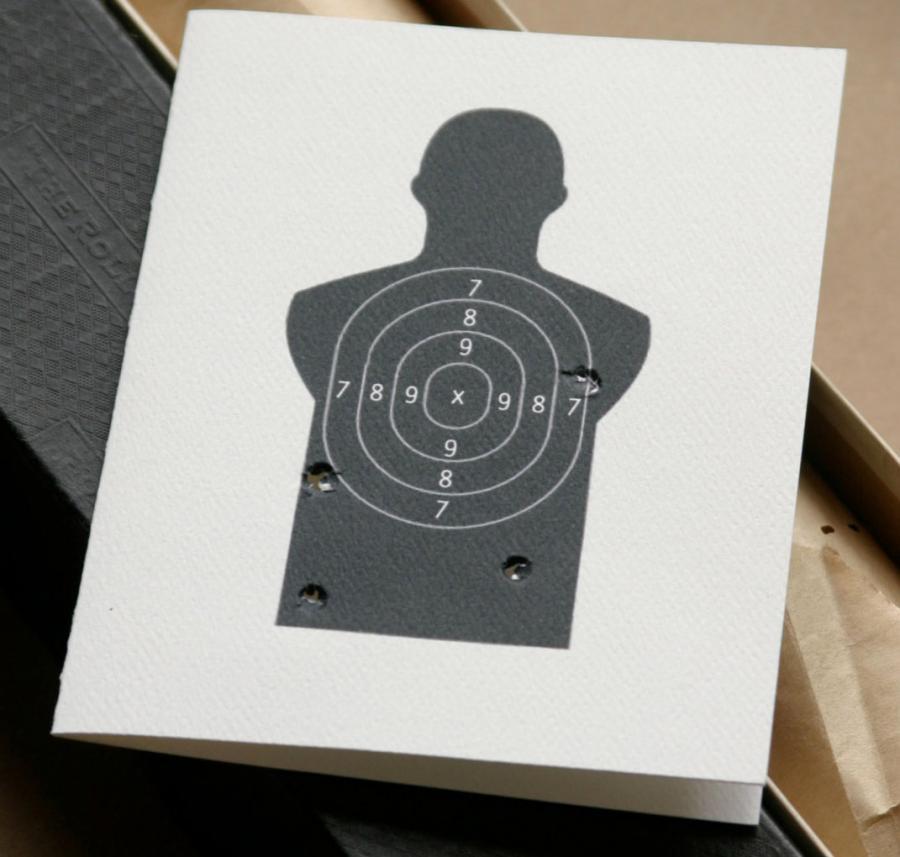 Gun Target Miss You Card