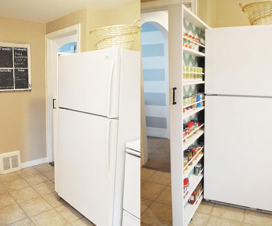 Super Thin Slide-Out Pantry That Uses Just 6 Inches Of Space