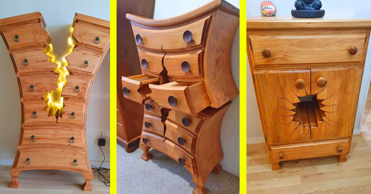 These Incredible Warped And Cracked Design Dressers Seem Like They Belong In A Disney Movie