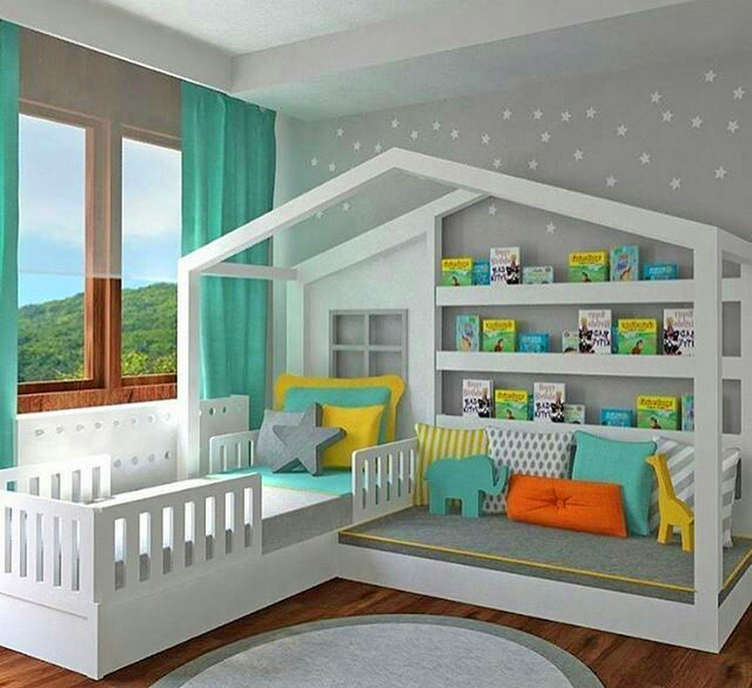 This Kids Montessori Bed Has A Bed And Reading Nook In One