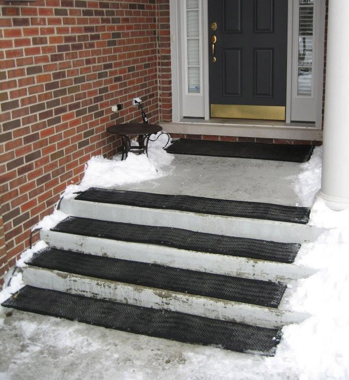 These Heated Mats Prevent Snow And Ice From Building Up On Your   Outdoor Stair Treads For Ice And Snow   Heated   Mat   Cool Inventions   Non Slip Mats   Heattrak