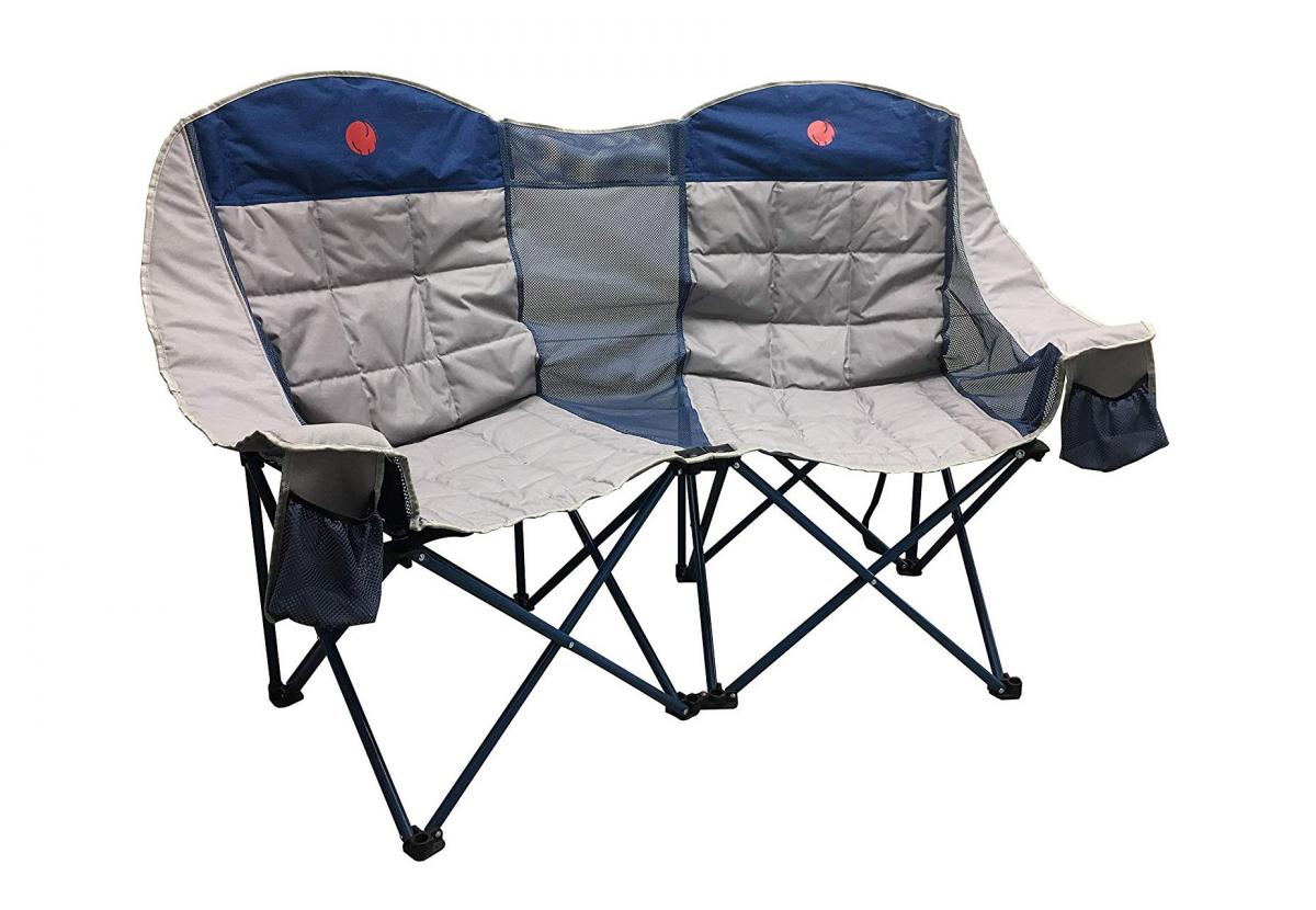 This 3 Person Folding Chair Is The Ultimate Camping Accessory