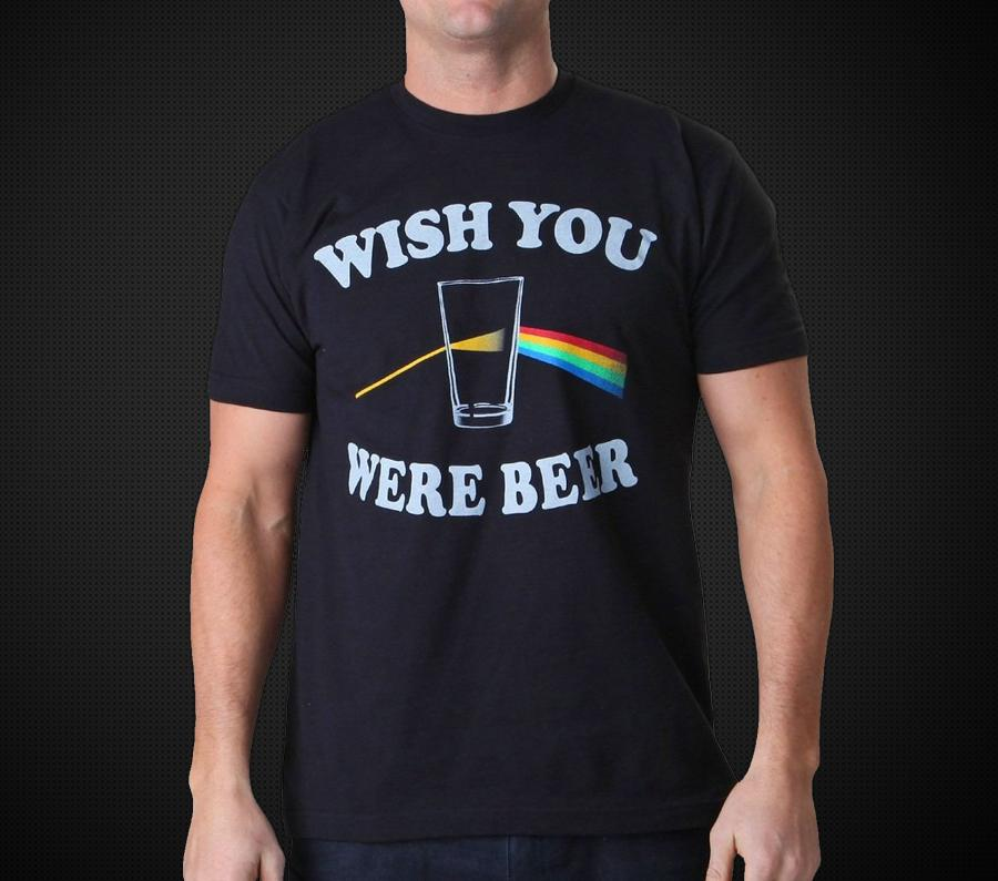 Wish You Were Beer Pink Floyd T Shirt