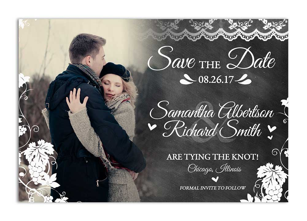 Save Date Cards Holiday