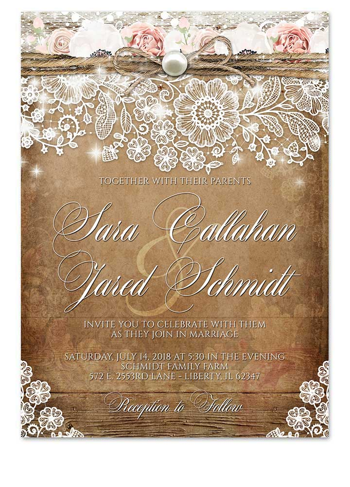Save Date Cards Lace