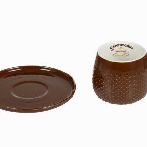 Kahvikuppi-ja-lautanen-suklaa-Kitchens-Deco-Kokoelma-1