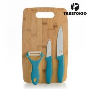 Keraamiset-Veitset-Bambu-Leikkuulaudalla-4-osan-setti-1