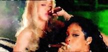 Shakira and Rihanna Enjoy Cigars