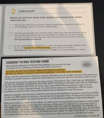 Checklist and consent