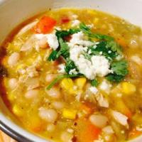 Roasted Tomatillo White Bean Chicken Chili
