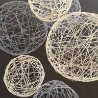 Twine Art Orbs: Balloons, Twine, Glue, Go DIY!