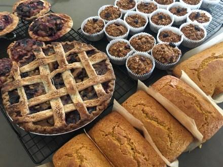 Pie, muffins, cornbread