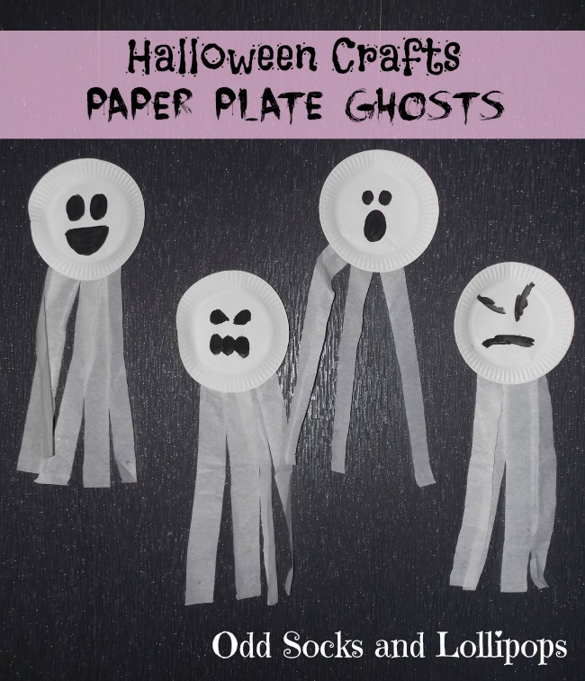 Halloween Crafts Paper Plate Ghosts - thought we would make an easy start to our Halloween crafts...
