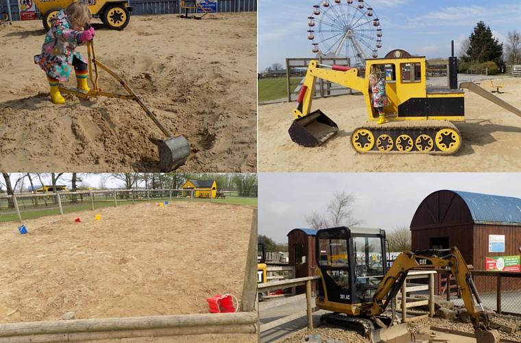 Folly Farm - Diggers and Sand