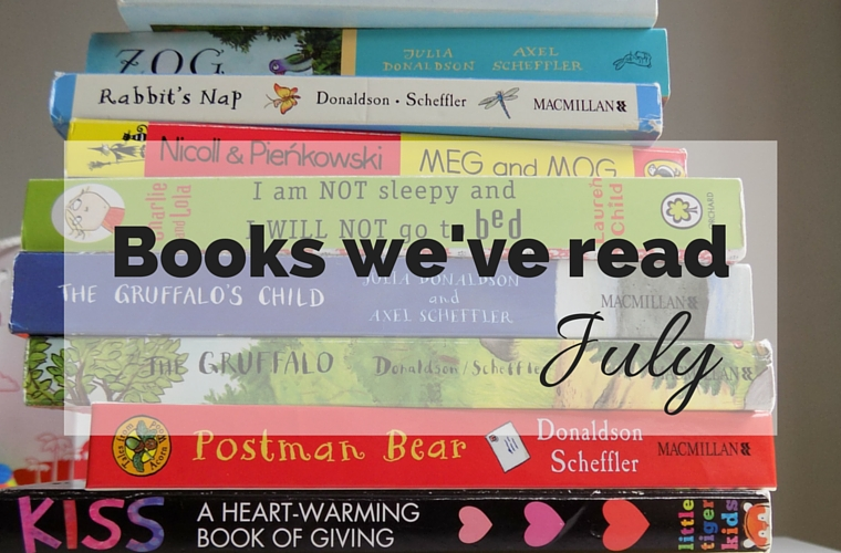 Books We've Read July 2016 - sharing some of the books my daughter, my husband and myself have read in the last month