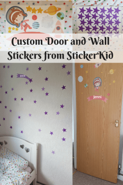 Custom Door and Wall Stickers from StickerKid - sharing my thoughts on the astronaut door stickers and the star wall stickers in the custom decal range