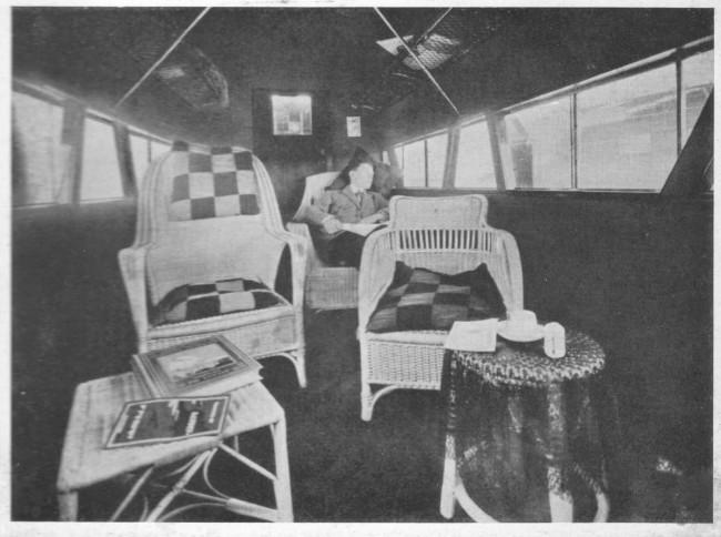 Asientos de los primeros aviones comerciales.