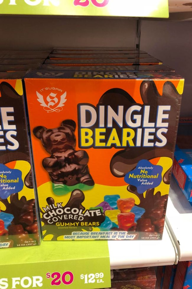Probably could've thought of a more appetizing name for chocolate covered gummy bears