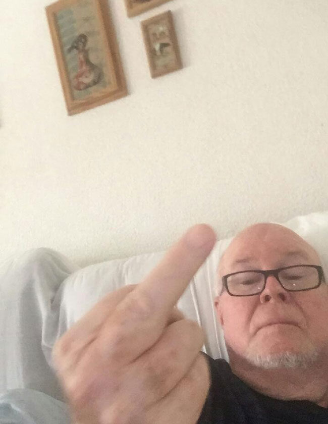 My grandpa sends me this every time I'm on my phone next to him