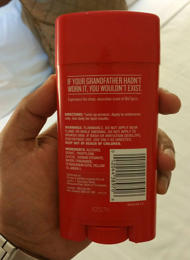 Touché Old Spice, touché