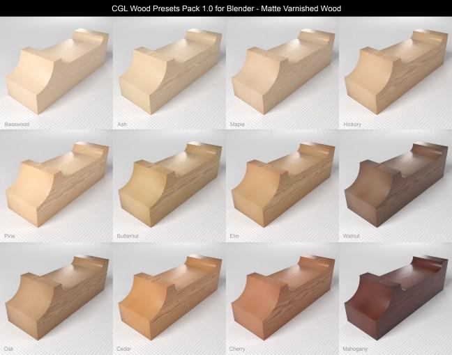 CGL_Wood_Presets_Pack_1.0_Previews_Matte_Varnished