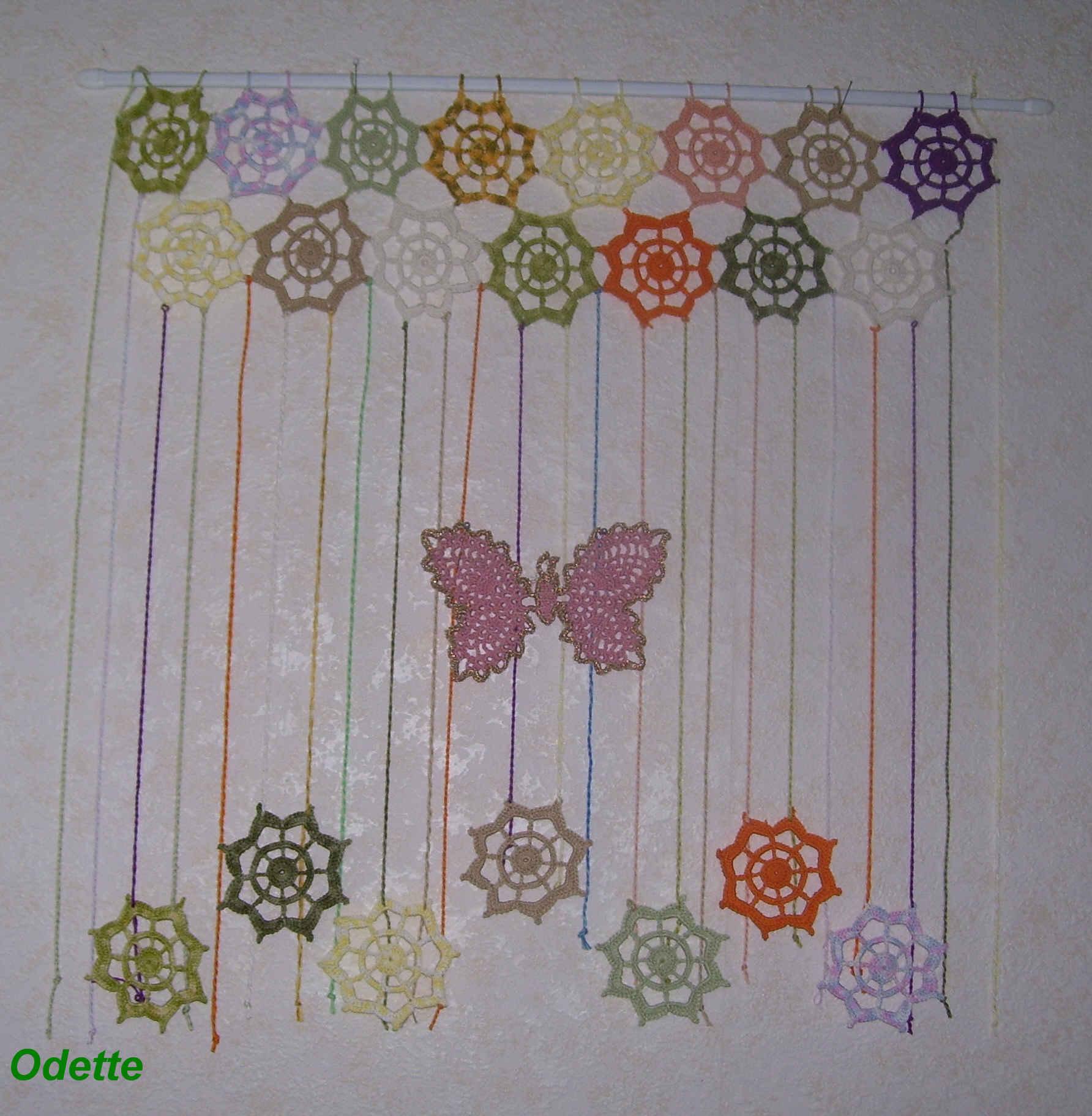 Ma Passion Le Crochet Un Rideaux Original