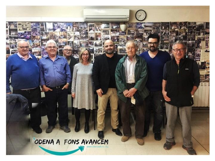 Òdena a Fons Avancem ens reunim amb les associacions d'avis i veïns del Barri de Sant Pere