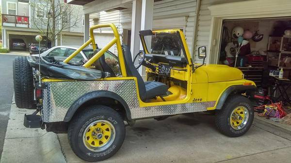 Topless 1984 Jeep Wrangler CJ-7