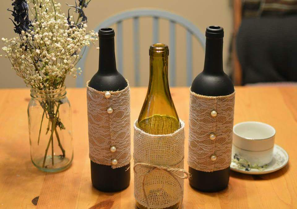 DIY Bottle Vase Centerpieces