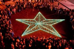«Звезда памяти» из 1418 свечей от «Киевстар» в Одессевпамять о каждом героическом дне Великой Отечественной войны