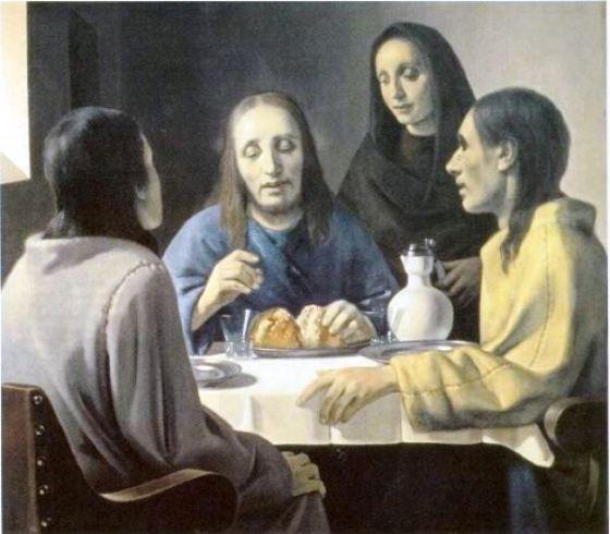 Фальсификатор Хан Ван Мегерен, Христос в Эммаусе (фрагмент)